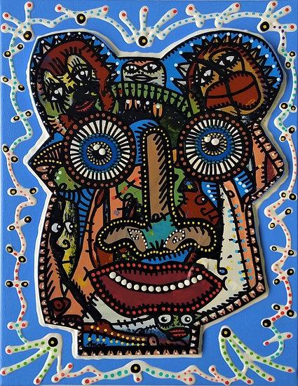 Abajo - Acrylique sur carton plume marouflé sur toile - 2019 - 35 x 27 cm