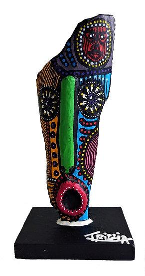Totem - Acrylique sur bois - 27 x 13 x 10 cm