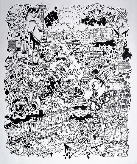 Rust-Life - Encre sur papier - 2016 - 60 x 50 cm