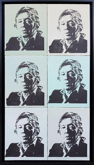 Serge Gainsbourg - Sérigraphie et acrylique sur toile - 124 x 65 cm