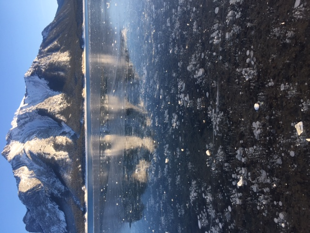 ABRAHAM LAKE ICE BUBBLES