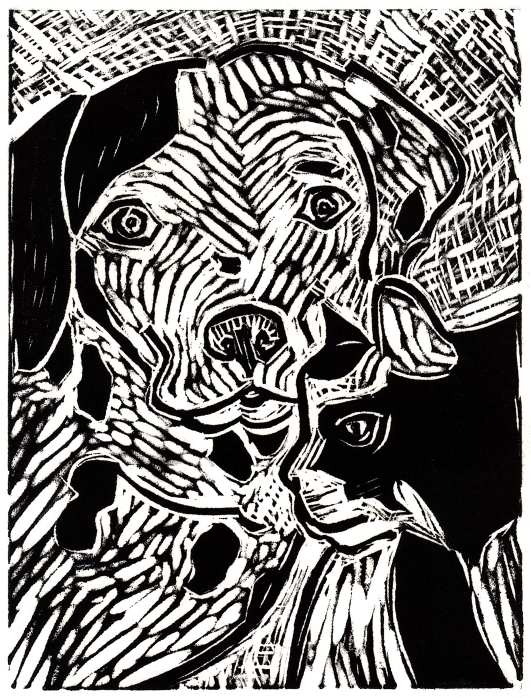 I Saved A Life, Woodcut