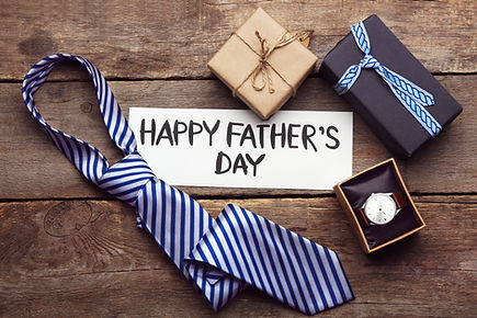Happy Father's Day inscription with tie
