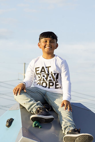 EAT. PRAY. HOPE.® STACKED Kids Long Sleeved