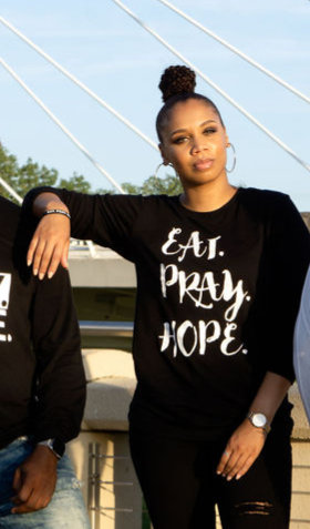 EAT. PRAY. HOPE.® SCRIPT LONG SLEEVE