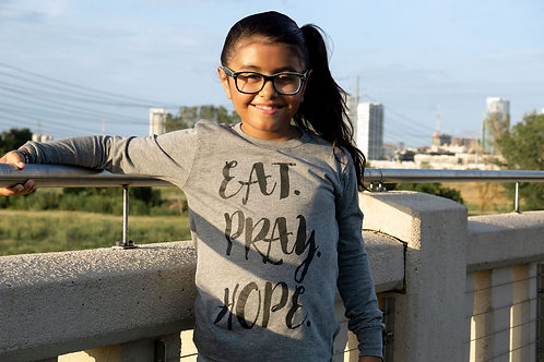 EAT. PRAY. HOPE.® SCRIPT Kids Long Sleeved