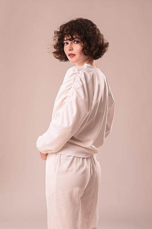 Bluza oversized-sleeves din in