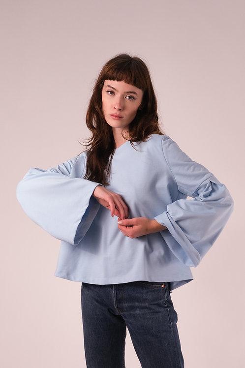 Bluză cu mâneci tip clopoțel