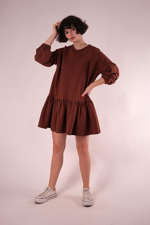 Rochia bufantă din tricot - scurtă
