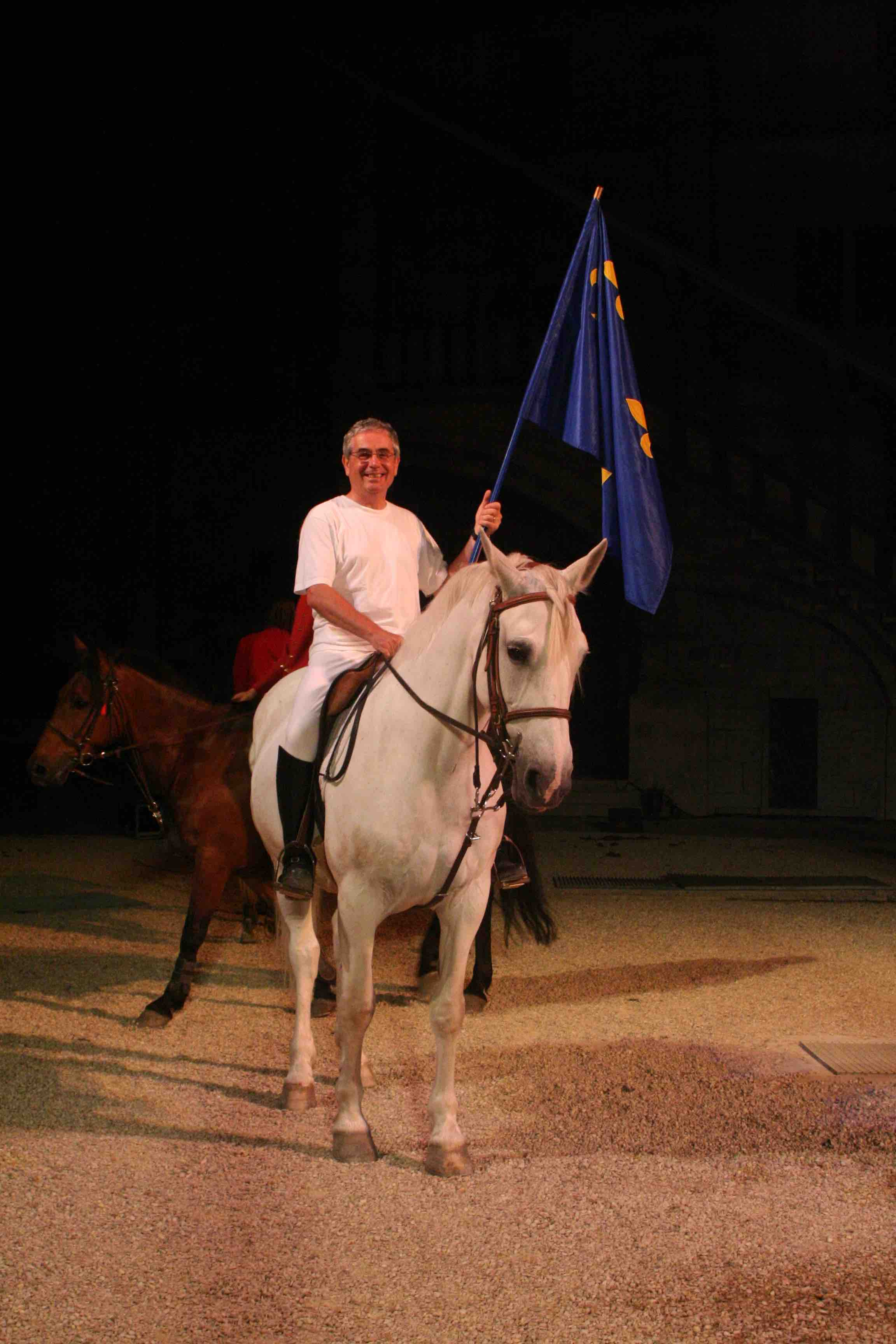cheval, loisir, drapeau, blanc, chmeaux