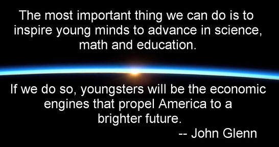 John Glenn quote on STEM education