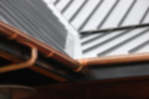 copper gutter standing seam roof roof