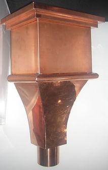 copper scupper box leader head collector box