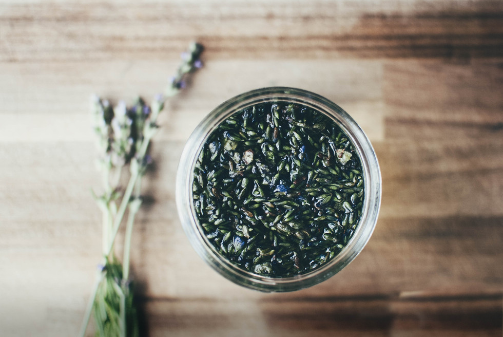 infusing lavender