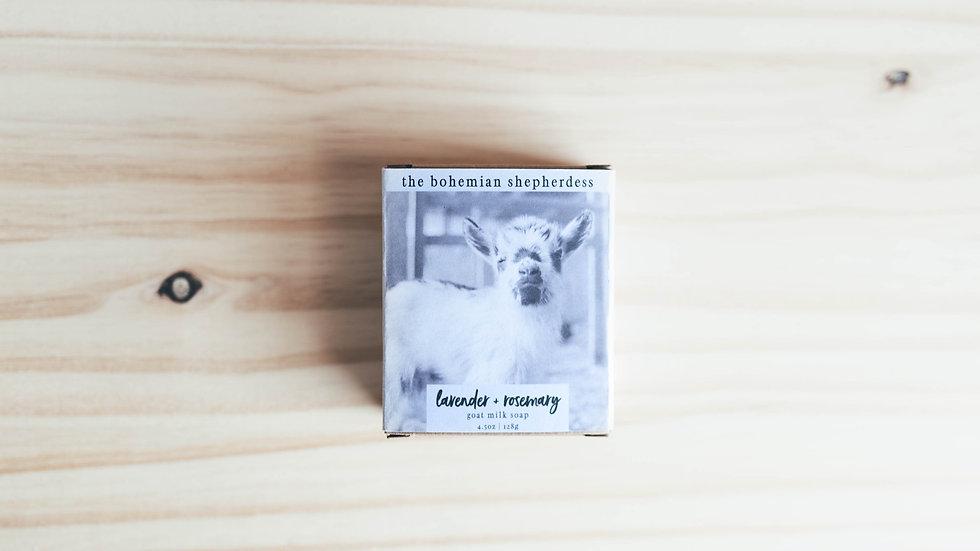 Lavender + Rosemary Goat Milk Soap