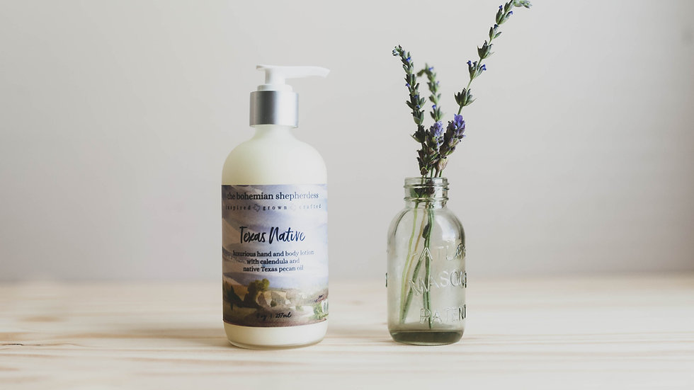 Texas Native Hand + Body Lotion
