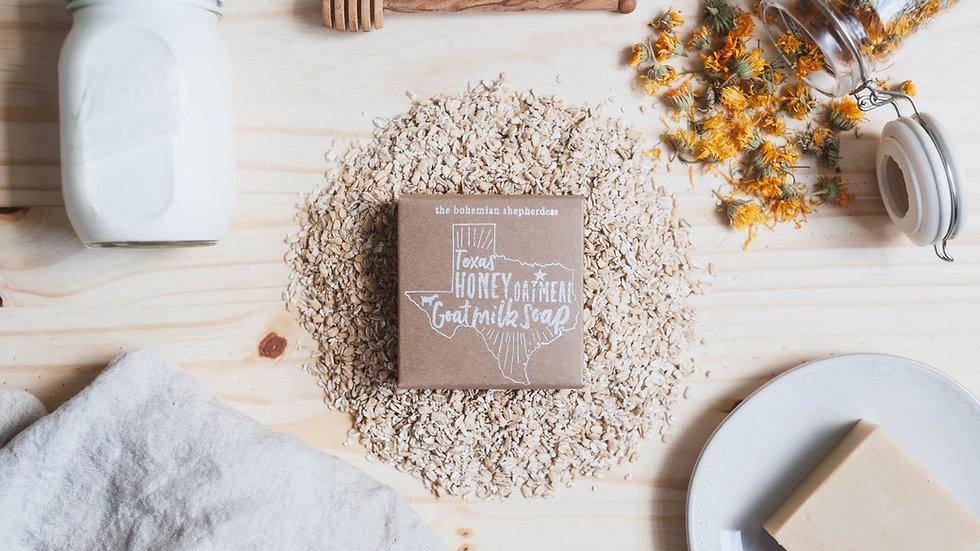 Texas Honey + Oatmeal Goat Milk Soap