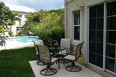 Pool area of the West Point Townhomes.