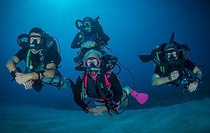 Divetech instructors diving their KISS Orca Spirit Rebreathers