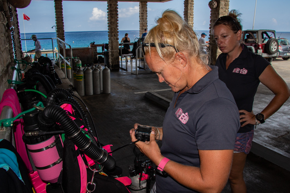 Divetech instructors stay current with regular skills refreshers.