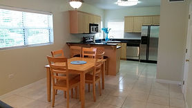 Kitchen and eating area of the West Point Townhomes.