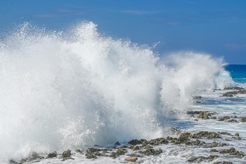 Rough seas in Grand Cayman.
