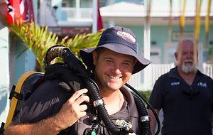 A Divetech rebreather diver in Grand Cayman.