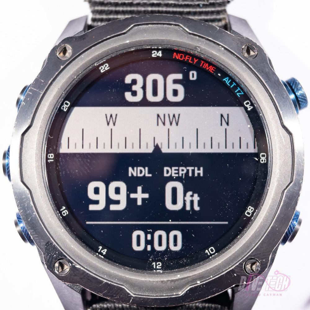 Garmin Descent MK2i compass screen