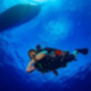 Drew on his KISS Orca Spirit rebreather.