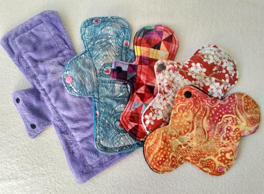 Reusable cloth pads for periods & postpartum bleeding