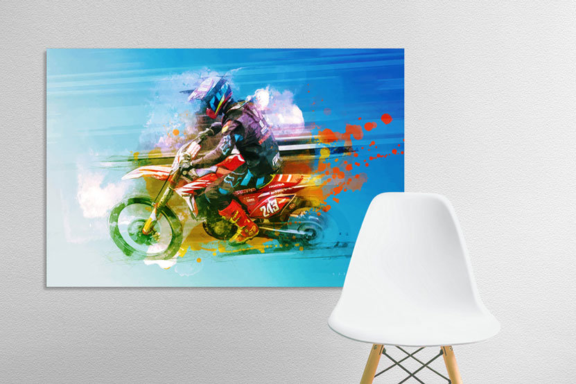 Motocross motorcycle art