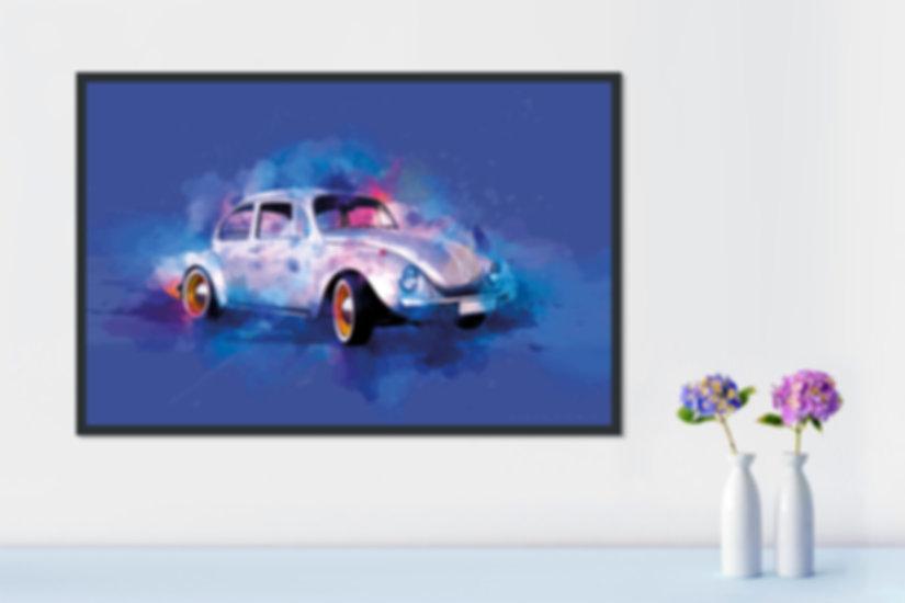 1968 Volkswagen Beetle art