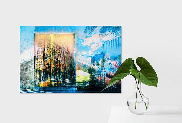 Digital Artwork by Sjoerd Smit - City Scape - Fine Art Print or print on stretched canvas