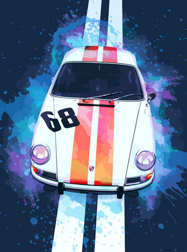 Porche 911 L Coupe art