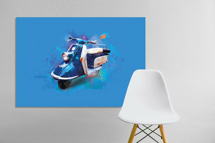 Heinkel Scooter Art Print