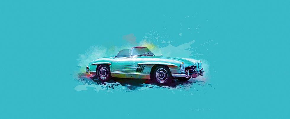 Digital Artwork by Sjoerd Smit - Personalized car and motorcycle art