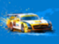 Mercedes Benz SLS AMG GT3 art