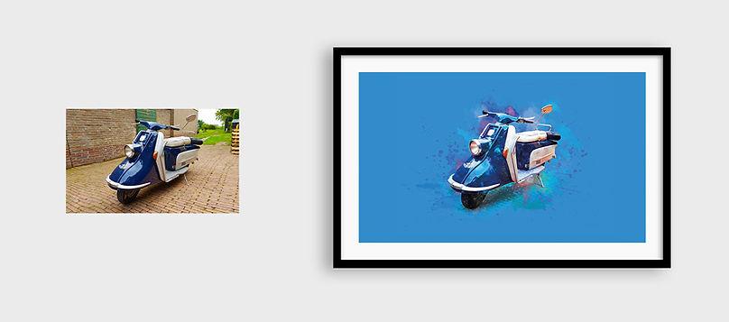 Heinkel Scooter art print