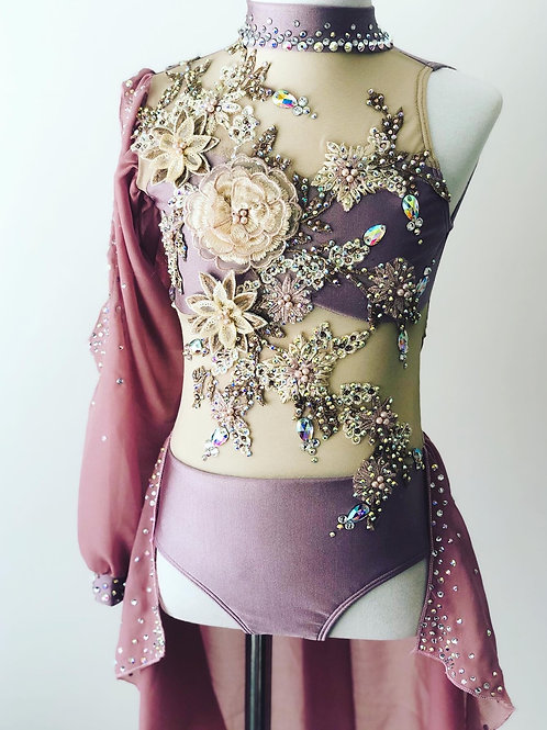Stunning dusty toned purple and pink lyrical costume
