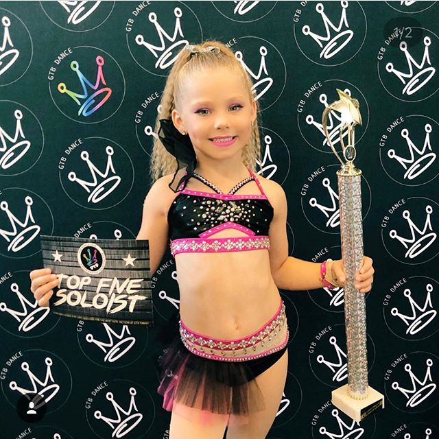 How gorgeous is little Makai_ 💖_._We just Loved creating this sassy jazz costume for her!_