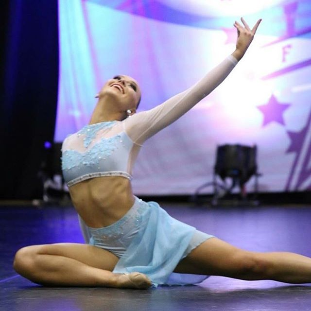 Beautiful photo of one of the _ultimatedancecentre girls in their stunning lyrical group costumes by