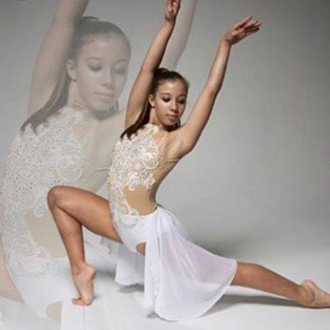 Available for purchase 💎__Absolutely stunning white and nude lyrical costume embellished with beaut