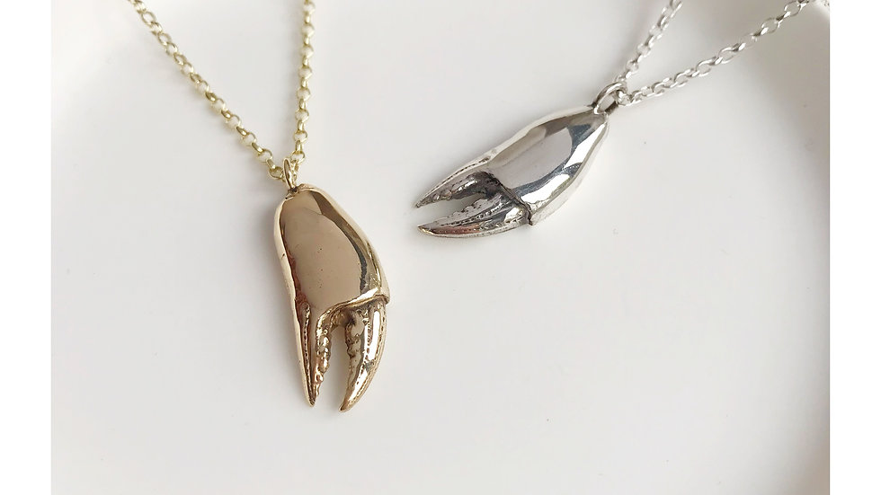 LOBSTER CLAW PENDANT SILVER