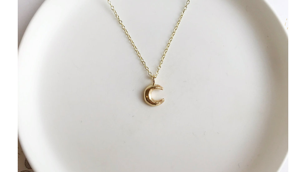 MINI MOON NECKLACE GOLD