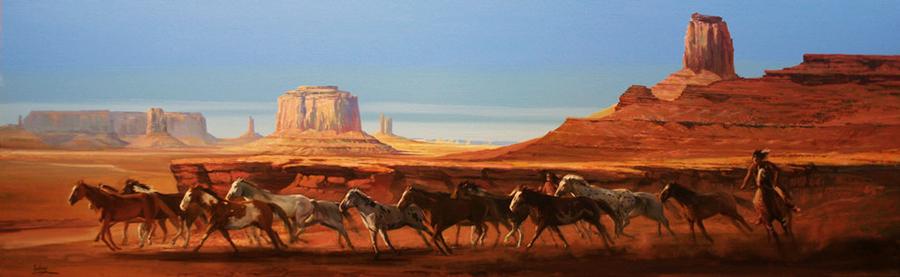 Mustangs Running