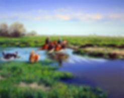 2018_Tamara Magdalina River crossing oil
