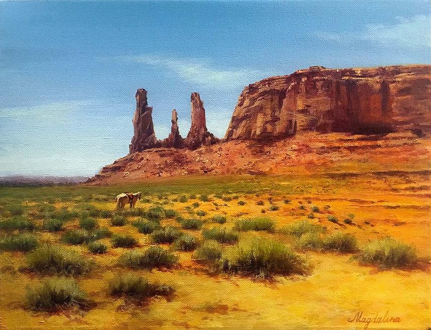 Magdalina_Tamara_Navajo-Land_OilCanvas_1