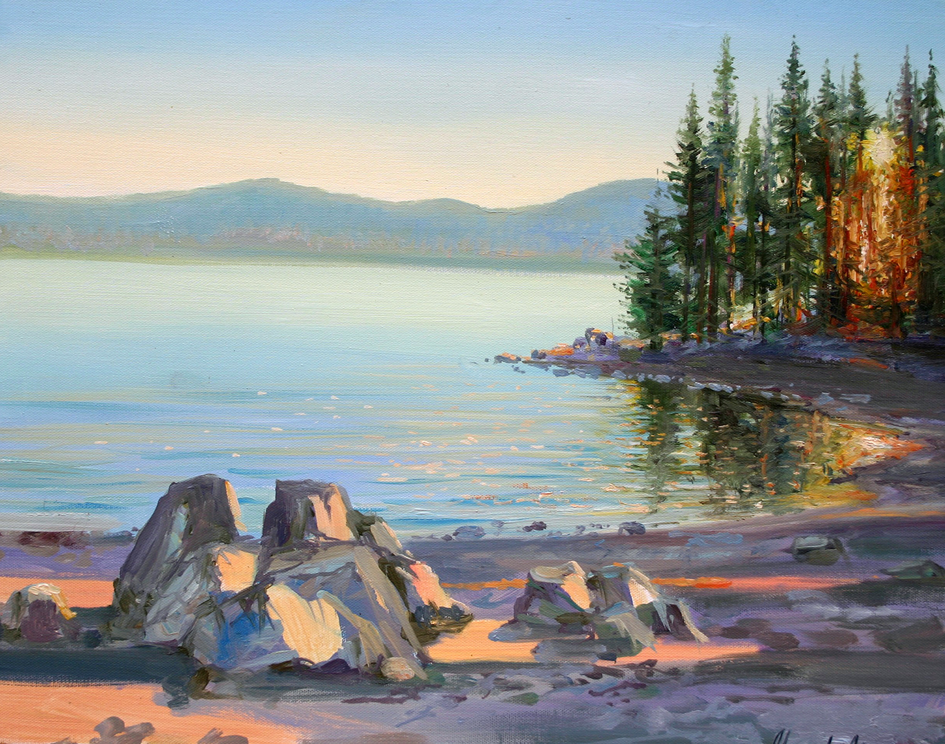 Sunset Medicine Lake