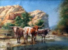 valeriy kagounkin original art валерий кагунькин tamara magdalina тамара магдалина western art paintings the gathering place