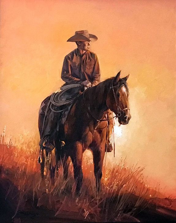 valeriy kagounkin original art валерий кагунькин tamara magdalina тамара магдалина western art paintings end of day